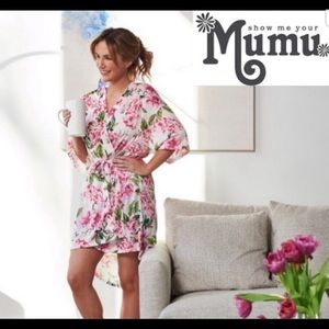 Show me your Mumu Brie Pink Floral Robe One Size